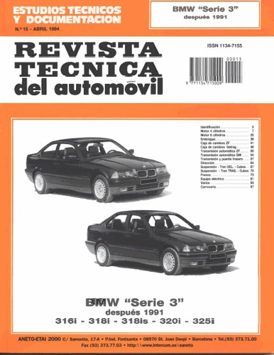 manual de taller de bmw 316 - 318  1991 - 2000 en español!!