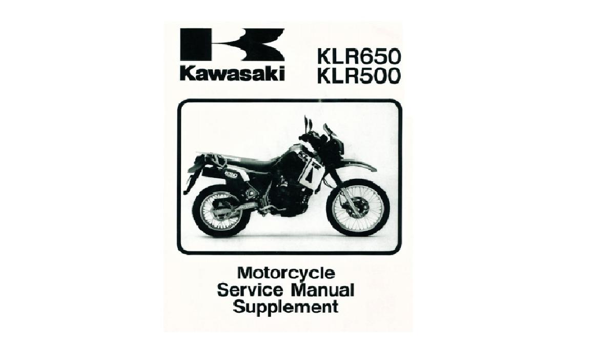 manual de taller de kawasaki klr 650 / 500 cc. Cargando zoom.