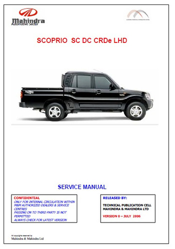 manual de taller de mahindra pick up versiones diesel