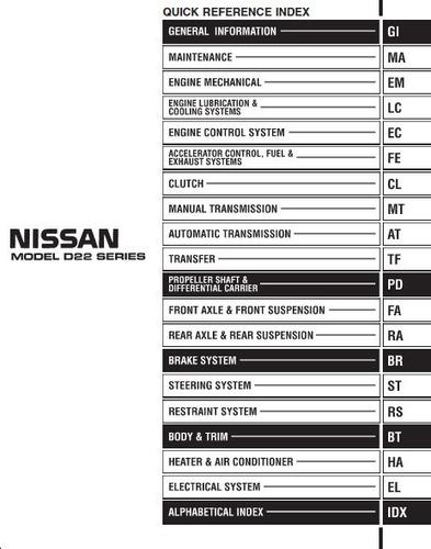 manual de taller de nissan d22 - terrano 1997 - 2014
