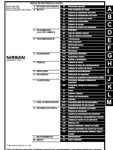 manual  de taller de nissan xtrail 2002 - 2007