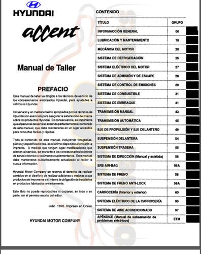 manual de taller del hyundai accent 1998 al 2003
