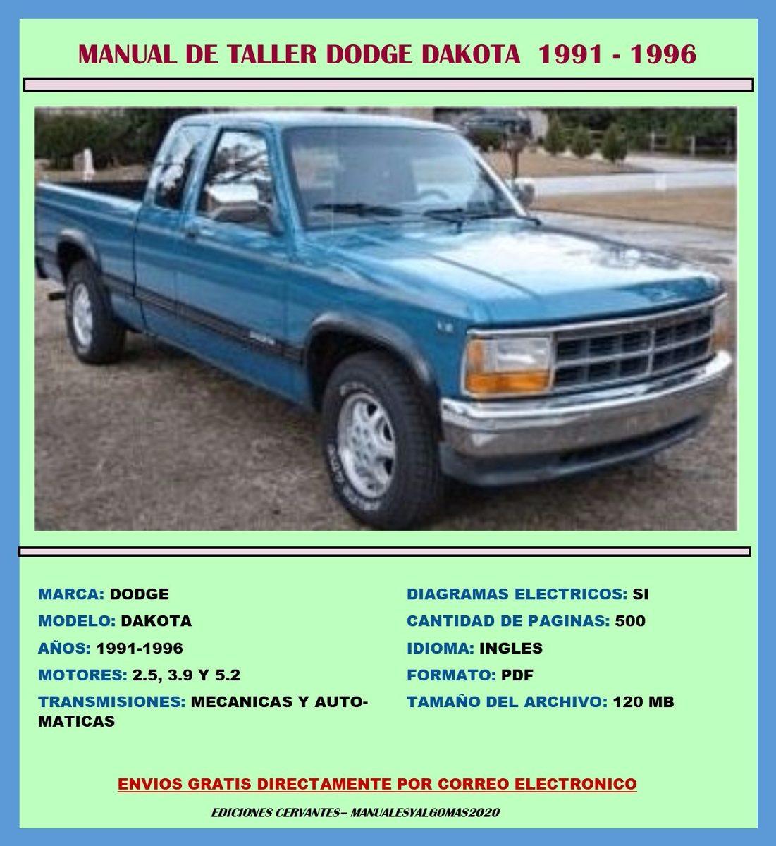 manual de taller despiece servicio diagramas dakota 1991 96 bs rh articulo mercadolibre com ve 1991 dodge dakota owners manual 1991 dodge dakota service manual pdf
