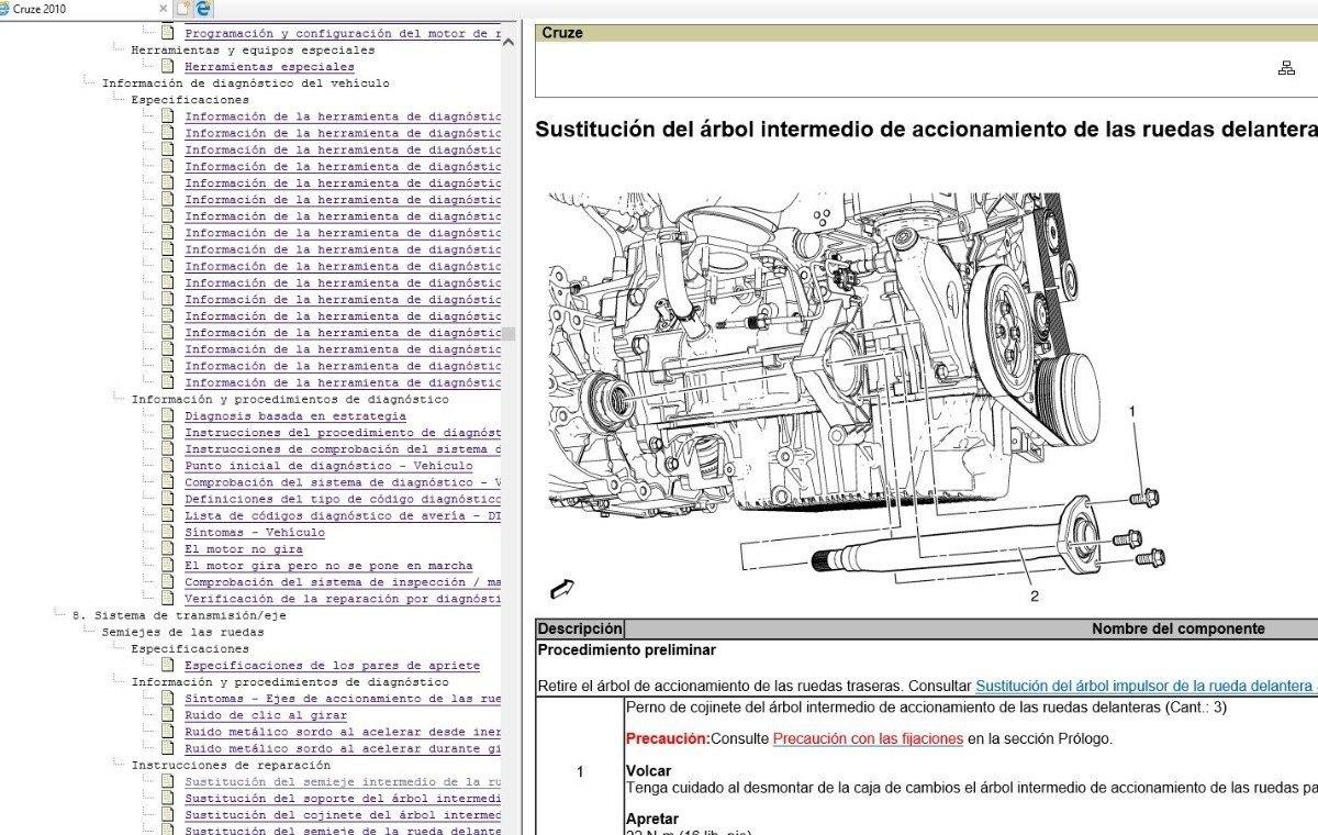 Manual De Taller Diagramas Chevrolet Cruze 2008