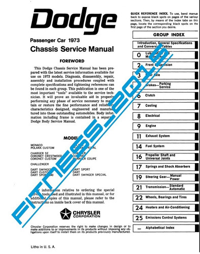 manual de taller diagramas electrico dodge monaco 1973 1980