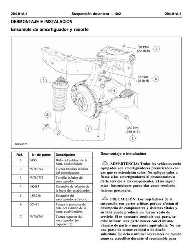 manual de taller diagramas ford explorer 2006-2010 español