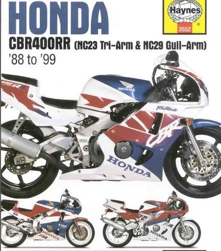 manual de taller honda cbr 400 (1988-1999) envio gratis