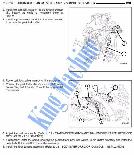manual de taller - jeep grand cherokee wk 2005 - 2010 *