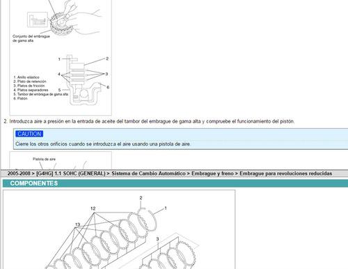 manual de taller kia picanto 2005-2008 español
