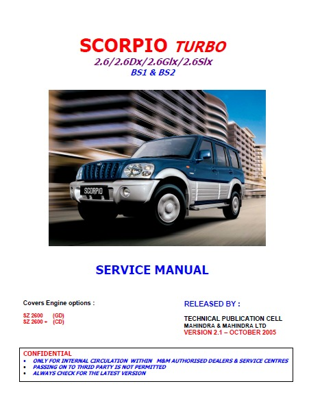 manual de taller mahindra scorpio mhawk crde bencina 5 990 rh articulo mercadolibre cl mahindra scorpio manual wiring diagram mahindra scorpio manual