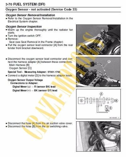 manual de taller - moto kawasaki d tracker x klx 250 *