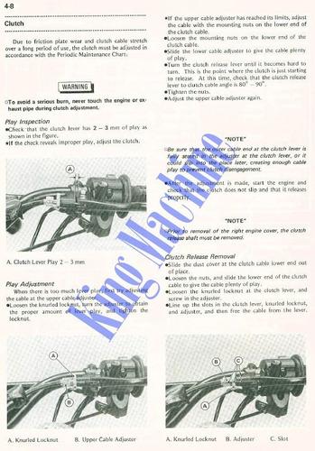 manual de taller - moto kawasaki klr 600 1984 - 2002