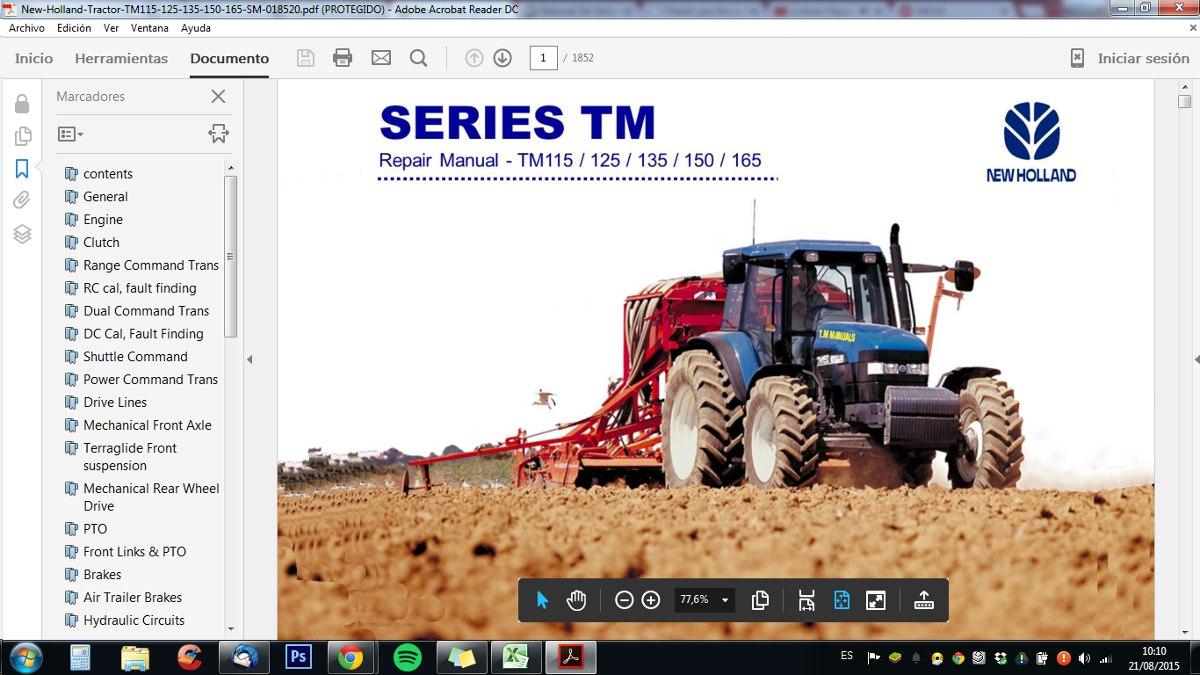 manual de taller new holland tm 115 125 135 150 165. Cargando zoom.