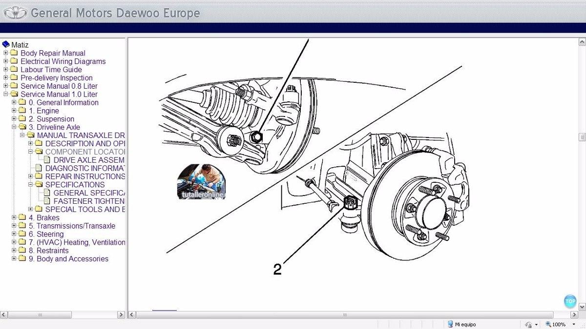 Manual De Taller Profesional Daewoo Matiz 1999 2002 Bs 30000 En Tico Wiring Diagram Cargando Zoom