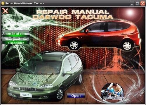 manual de taller profesional daewoo tacuma 2001-2002