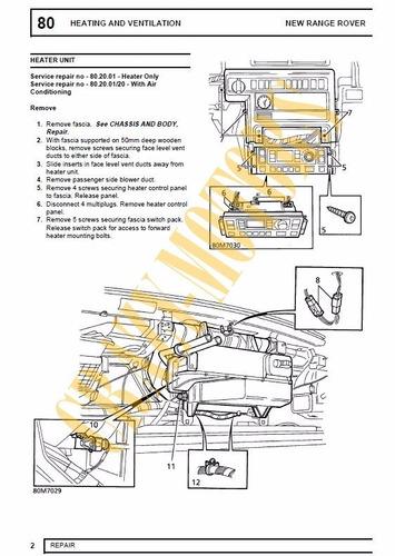 manual de taller - range rover land rover p38 p38a 94 - 01 *
