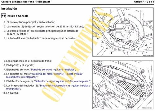 manual de taller - reparacion chevrolet meriva 2003 - 2012 *