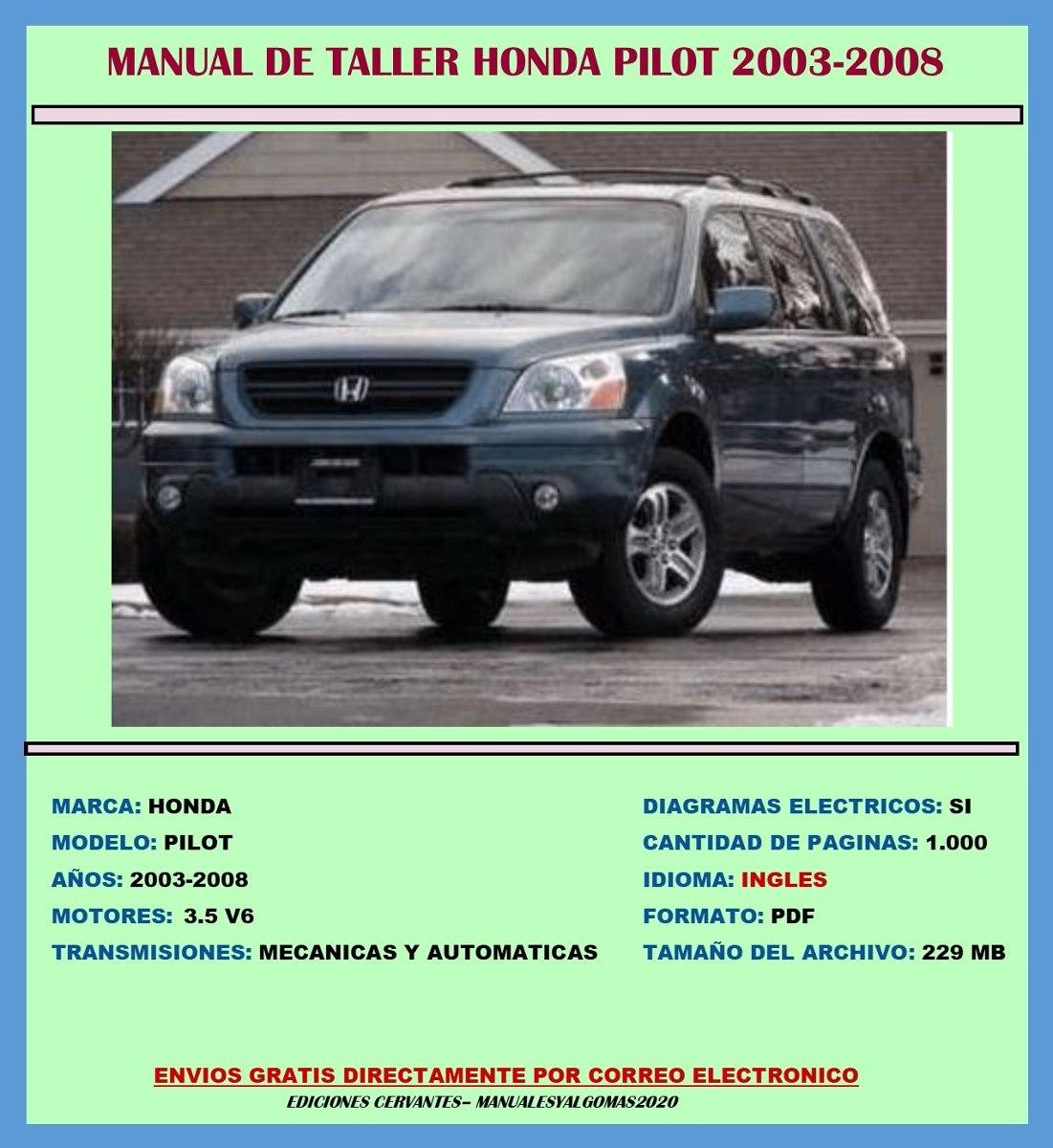 manual de taller reparaci n diagrama honda pilot 2003 2008 bs 27 rh articulo mercadolibre com ve 2006 honda pilot manual 2007 honda pilot manual pdf