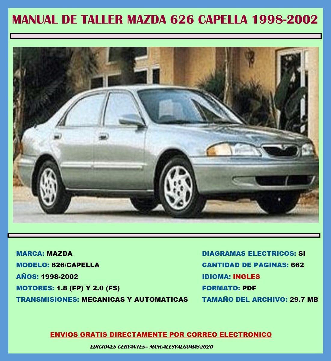 Manual De Taller Reparaci U00f3n Diagramas Mazda 626 1998-2002