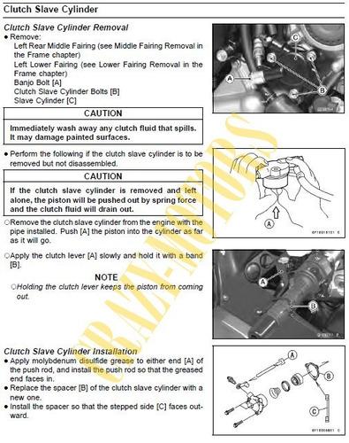 manual de taller - reparacion moto kawasaki concours 1400 *