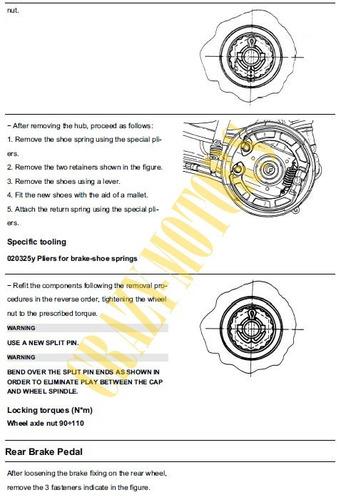 manual de taller - reparacion moto piaggio vespa px 150 *