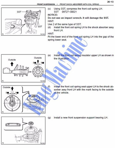 manual de taller - reparacion toyota camry 2002 - 2006 *