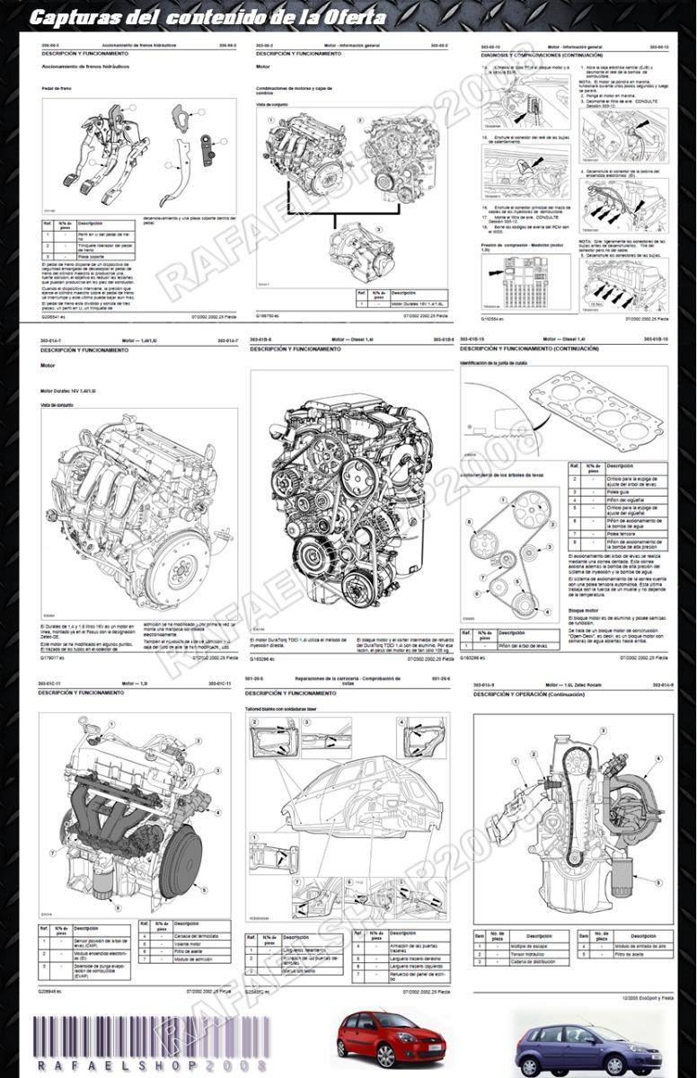 manual de taller servicio ford fiesta motor zetec rocam 1 6