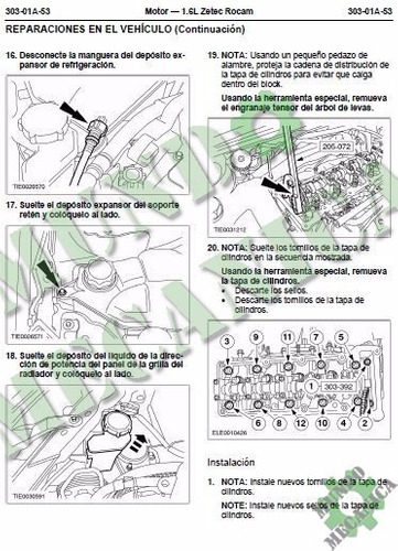 Manual De Taller Servicio Motor Ford Zetec Rocam 1.6 Pdf ...