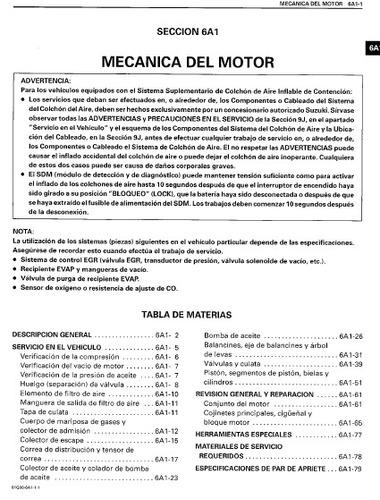 manual de taller suzuki baleno en español!!