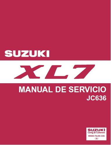 manual de taller suzuki xl7 2007 -2012 en español!!