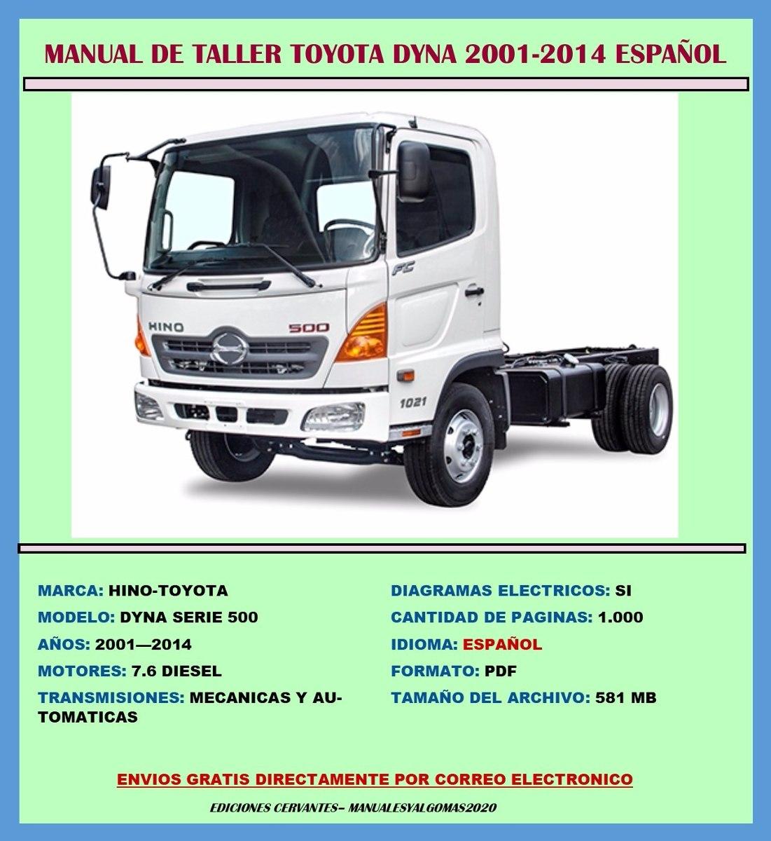 Manual De Taller Toyota Dyna Hino 500 2001-2014 Español - S/ 20,00 ...