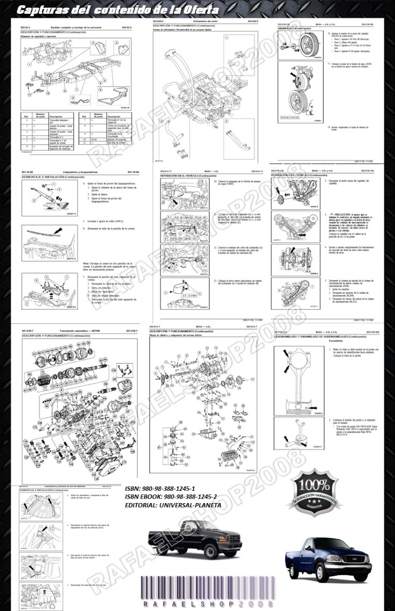 Manual De Taller Y Diagramas Ford F150 F250 Fotaleza Triton