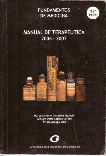 manual de terapéutica fundamentos medicina º autores ºc.i.b.