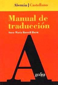 manual de traducción alemán castellano, rosssel, gedisa