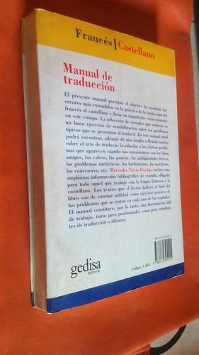 manual de traduccion/ mercedes tricas preckler/gedisa