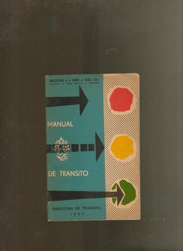 manual de tránsito dirección de tránsito 1969