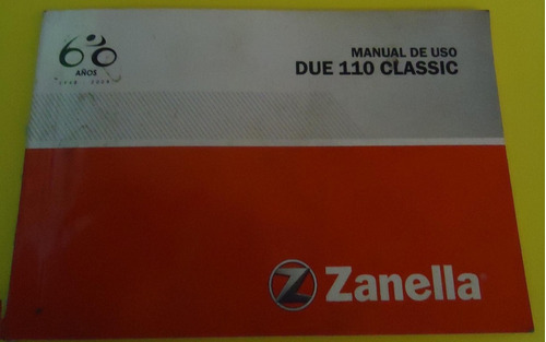 manual de uso moto zanella due 110 clasic
