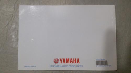 manual de uso y mantenimiento original yamaha fz 2014.