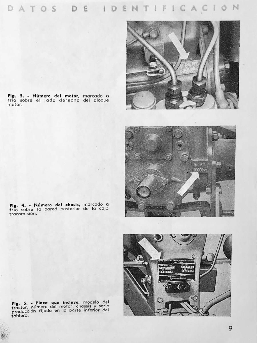 Tractor Fiat 300 serie reparación manual
