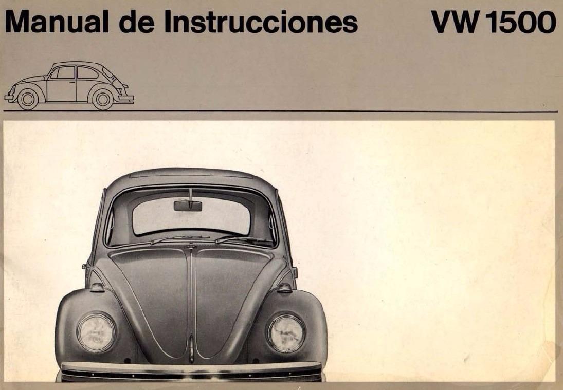manual de usuario de volkswagen escarabajo 1500 en espa ol rh articulo mercadolibre cl Volkswagen Polo Volkswagen Golf