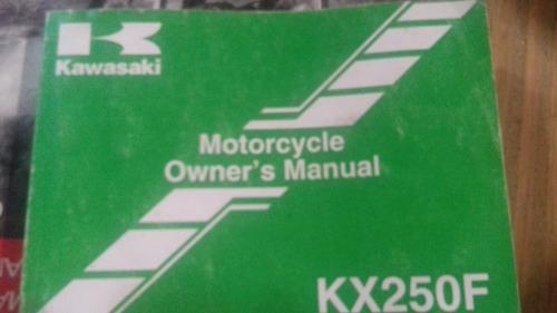 manual de usuario kawasaki kxf 250 año 2007