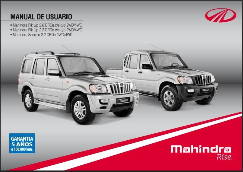 manual de usuario mahindra scorpio 2 2 2wd 4wd 2 500 en mercado rh articulo mercadolibre cl mahindra scorpio manual book mahindra scorpio manual