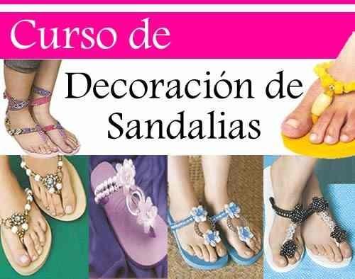 manual decoracion de sandalias cientos proyectos digital