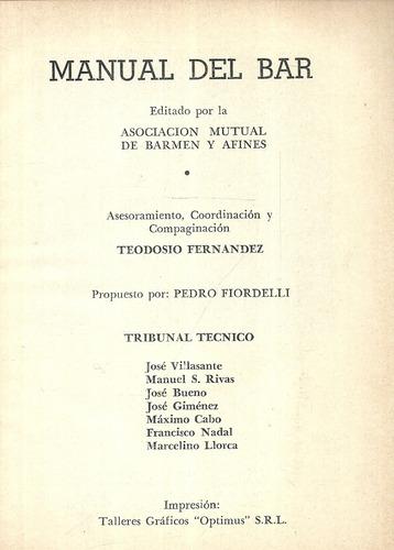 manual del bar. cocktails. asociación barmen y afines