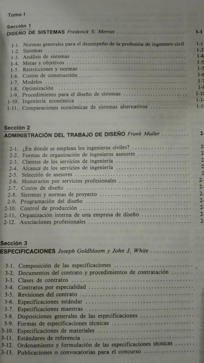 manual del ingeniero civil de frederick s merritt 4 tomos rh articulo mercadolibre cl Tomos 50Cc Tomos Parts