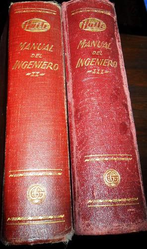 manual del ingeniero hutte. tomo 2 y tomo 3 usado