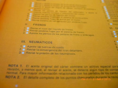 manual del propietario chevette año 1983-84 (c-15