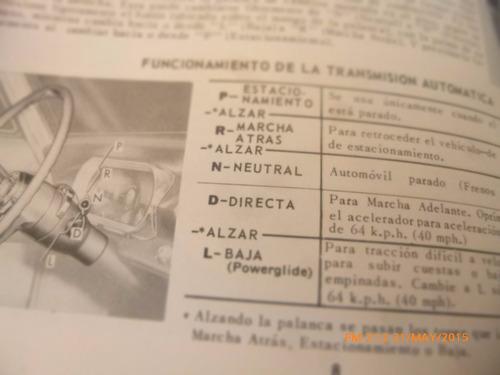 manual del propietario chevy 2 -- 1965 (c-24