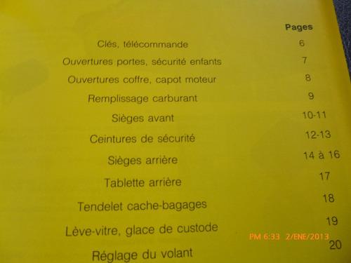 manual del propietario citroen zx en frances (c-10