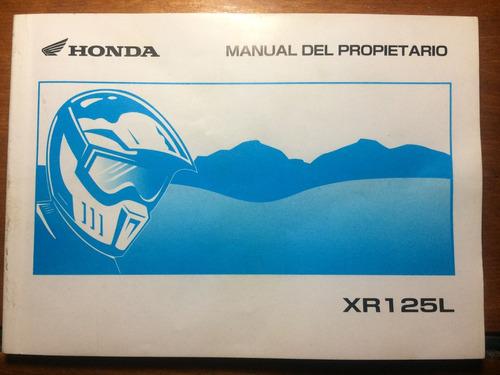 manual del propietario honda xr125 l